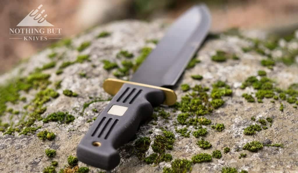 The Quicksilver Fixed Blade Bowie has a very comfortable handle