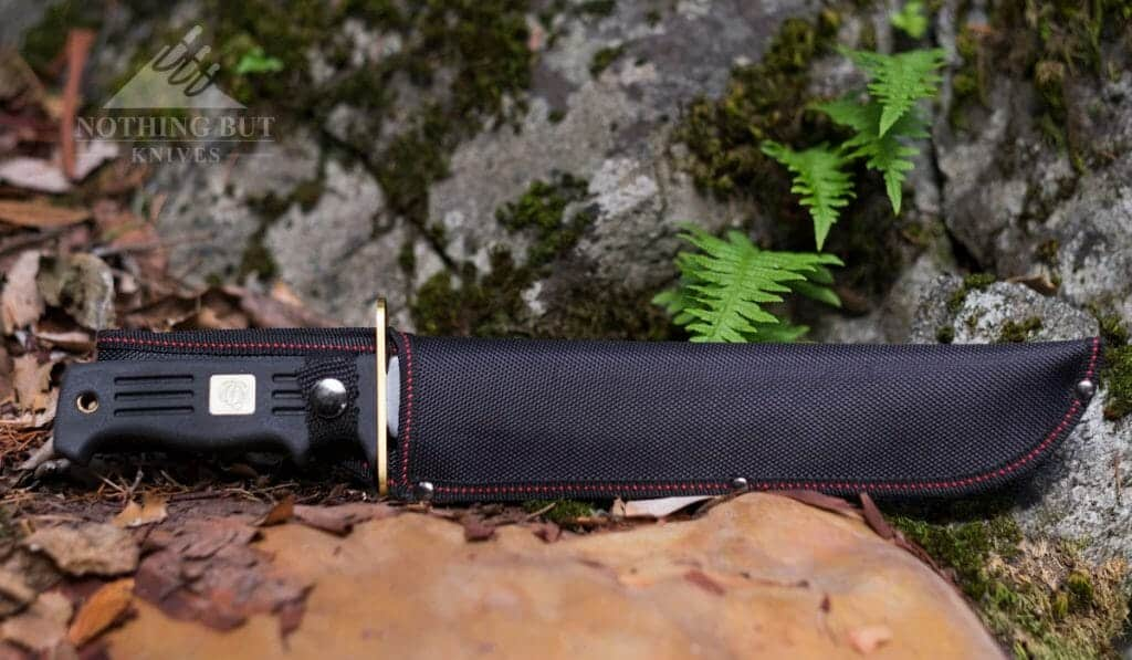 The nylon sheath that ships with this knife works fine, but it is not great or especially durable.