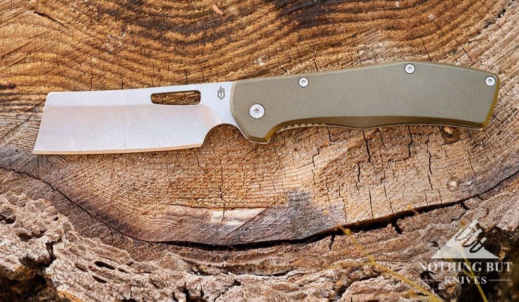 A Well Designed Pocket Cleaver. This large pocket knife cleaver is not perfect, but it has a very comfortable handle.