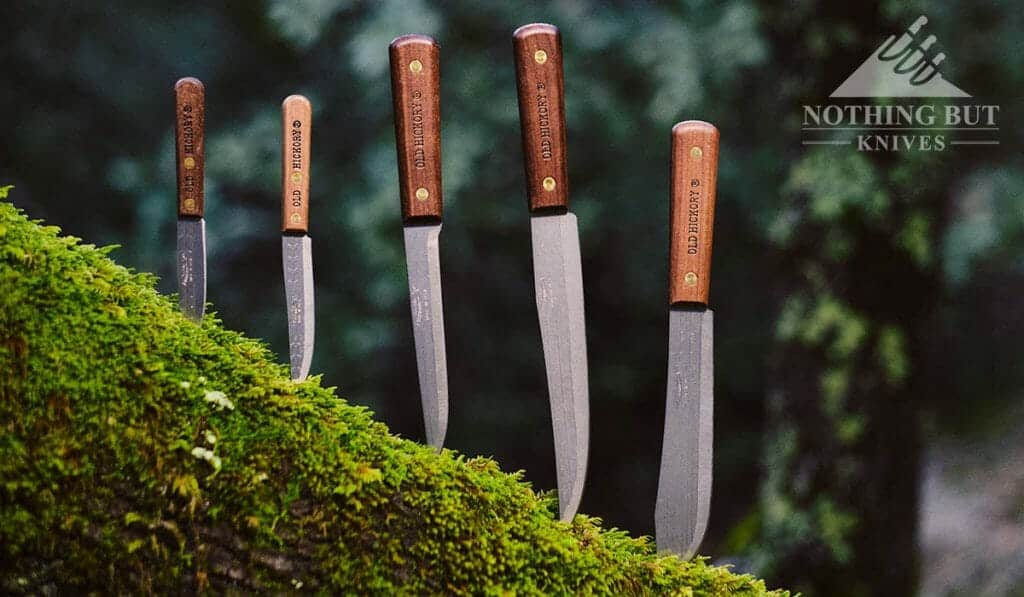 The Old Hickory Cutlery Set is an asset in the kitchen or outdoors as a camping and bushcraft knife set.