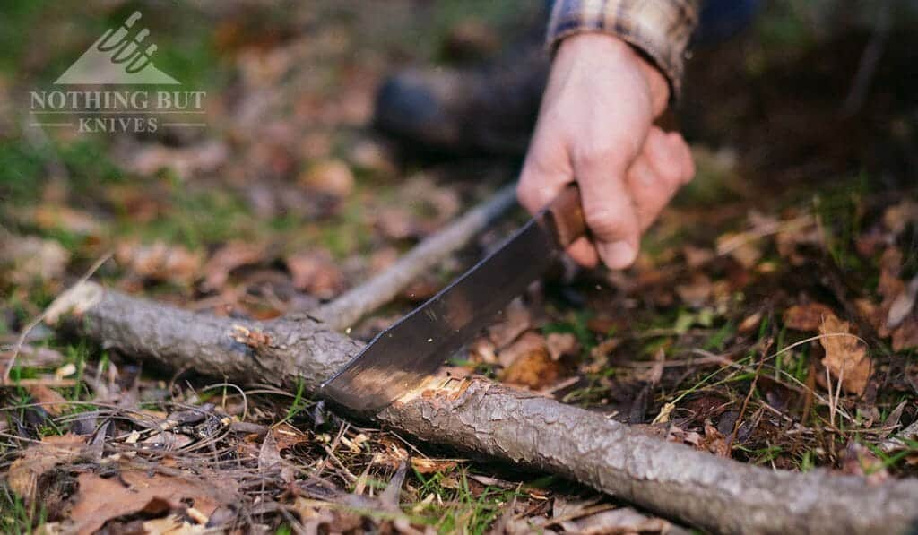 The Old Hickory Butcher knife could be utilized as a hard use survival knife.
