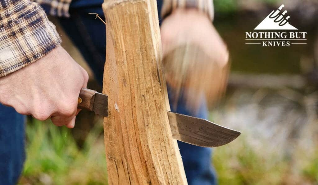 I said at the beginning that the butcher blade is the star of this show. It can handle basic kitchen and bushcraft tasks.